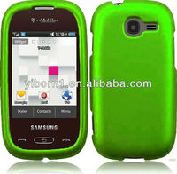 Neon Green Mobile phone PC Snap On Cover Case For Samsung Gravity Q T289 [ free screen protector ]