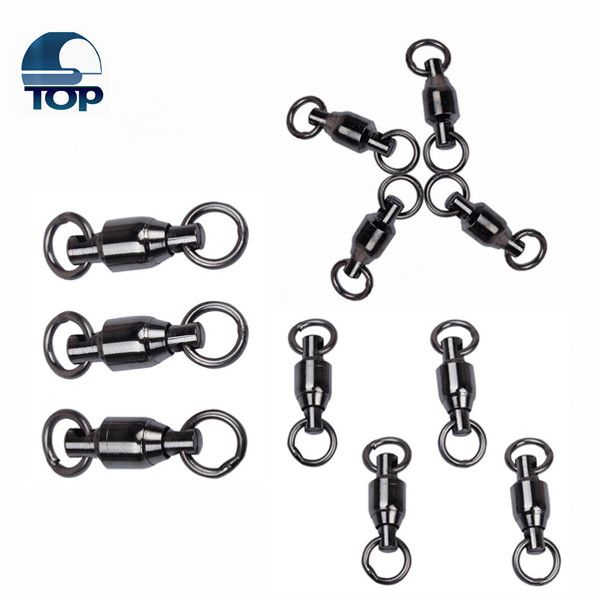 Ball bearing swivel and two solid ring fishing snap swivel for a big discount