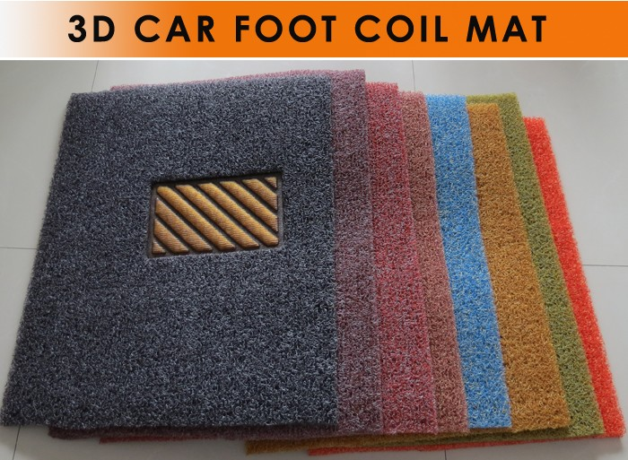cheap Crystal plastic pvc coil car floor mats in roll for auto