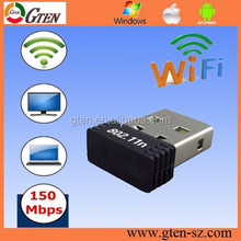 Compact mini 150Mbps 2.4Ghz ralink5370 kasens g9000 wifi usb adapter lan network