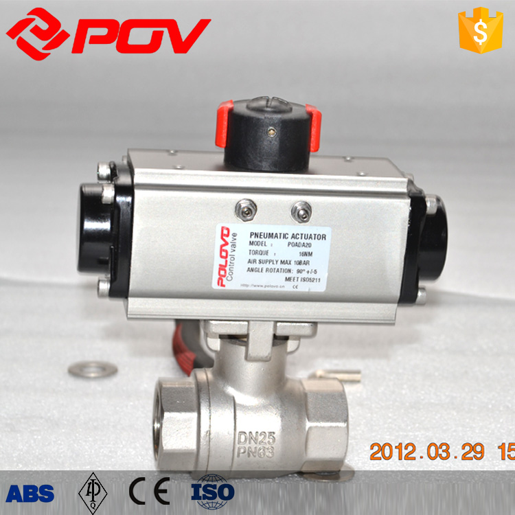 2 piece thread pneumatic ball valve shopping