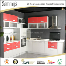 Competitive price for High gloss lacquer modular kitchen cabinets color combinations designs