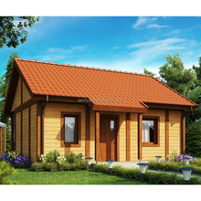 New design quick assembly prefab one BHK wooden log homes finland