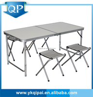 2016 new light weight outdoors portable aluminum folding table with chair