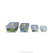 pp wholesale 0.55L small square sealed food storage plastic container with locking lid