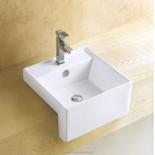 Bathroom Recessed 16 inch Square Ceramic Sink