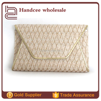 Top popular hot sale Japanese summer style weave evening clutch