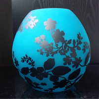 blue glass lamp shade orange glass cover customized color