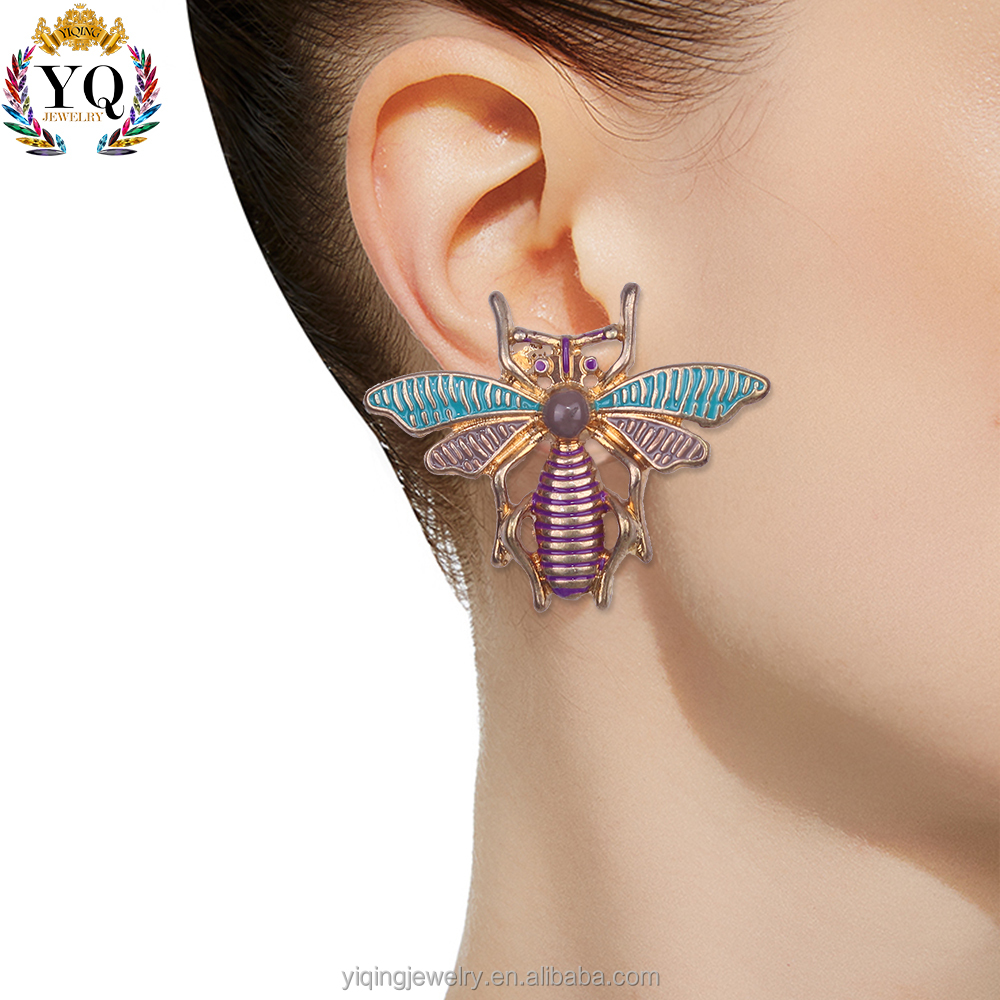 EYQ-00378 New arrival acrylic statement stud colorful enamel earrings for party