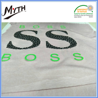 Custom iron on label washable wholesale heat transfer stickers for t shirts
