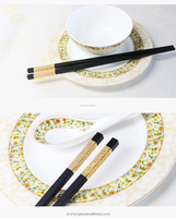 Chinese wedding gift and decorative gold stripe bulk alloy chopsticks