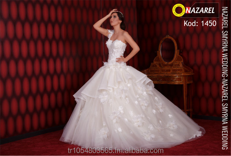 Nazarel 2014 Hot Model Weddeing Gown