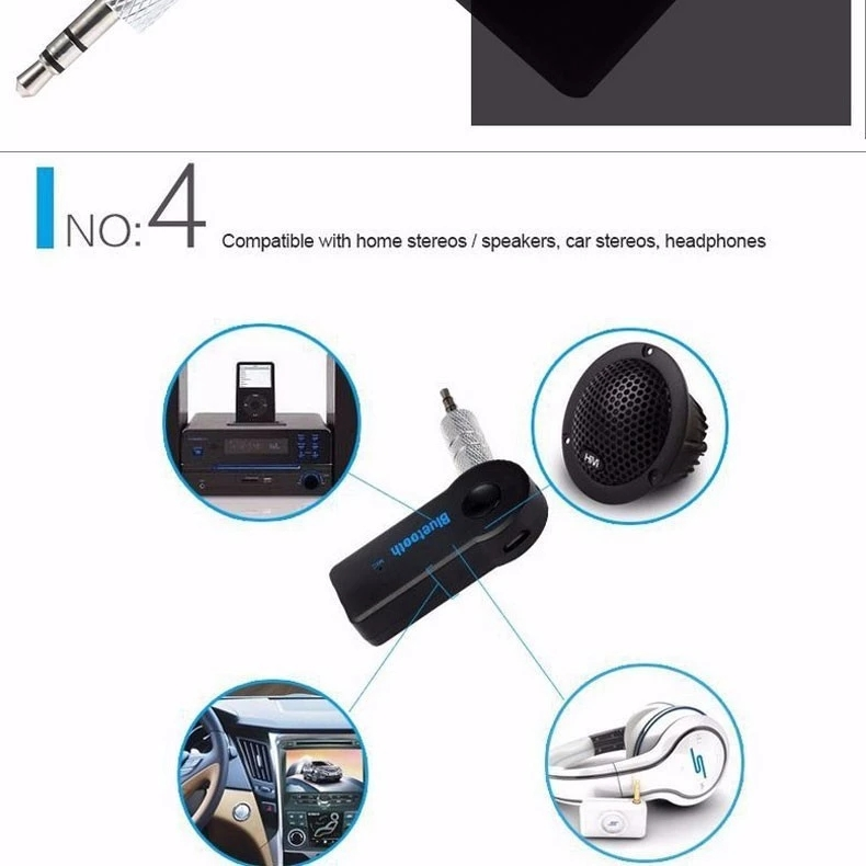 3.5mm Jack For Headphone Headset Speaker Mp3 Player Car Stereo Aux Audio Mini Bluetooth Receiver Adapter