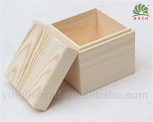 Unfinished Wooden Storage Box With Lid for Essential Oils ,Whosale Tea Gift Box