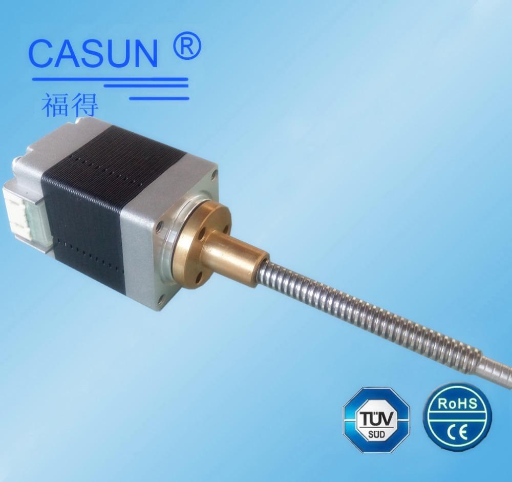 Made in guangzhou 2 phase bipilar lead screw stepper motor Stepper motor with lead screw