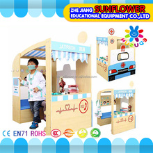 Role play toys pretend doctor play house toys boys favorite doll house wooden