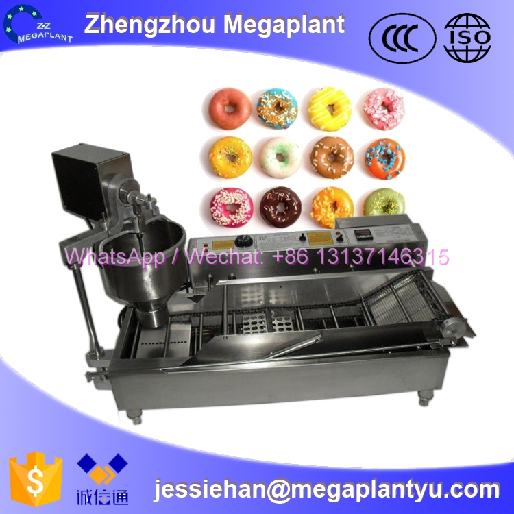 Automatic Doughnut Factory: Henan Megaplant Automatic Mini Belshaw Donut Mix And Fryer
