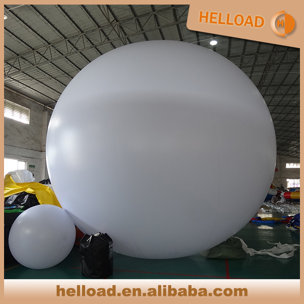 Customized made 2m-3m size helium balloon with led light fly in the sky