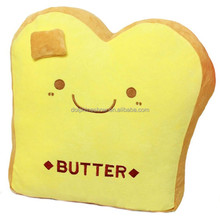Brand LOGO Custom Cute Plush Bakery Bread Toast Toy Promotional Gift Cotton Food Soft Stuffed Kids Toy Bread Plush
