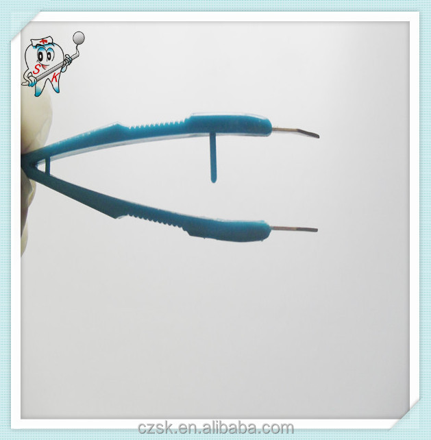 2015 health products disposable medical plastic tweezer