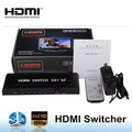 Premium 5 port High speed HDMI switch with IR wireless remote and AC Power adapter - supports 3D, 1080p