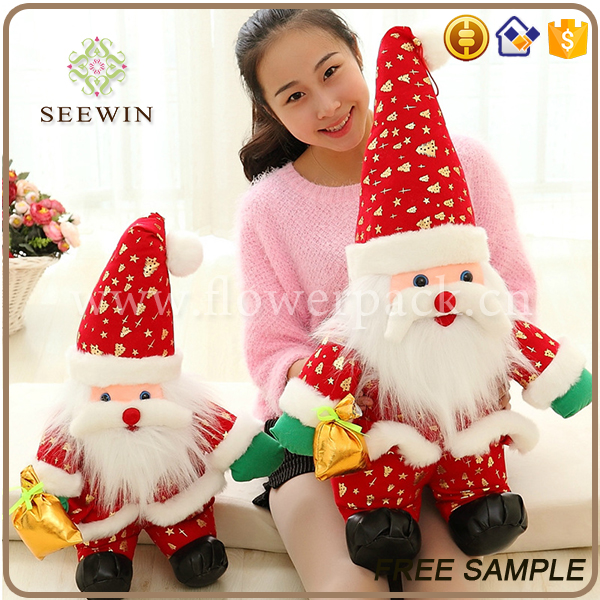 wholesale festival dolls decorative toys small gifts stuffed santa claus