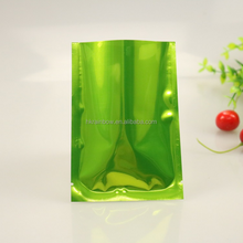 Shinny Green Food Grade Heat Seal Three Side Seal Aluminium Foil Bag For Cookie Packaging / Protein Powder Pouch