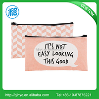 Best selling personalized fashion canvas zip make up clutch bag with company logo