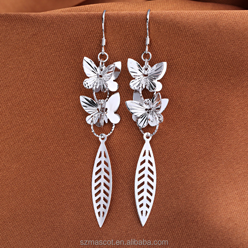 traditional dropshipping jewellery butterfly shape sterling silver earrings jewelry