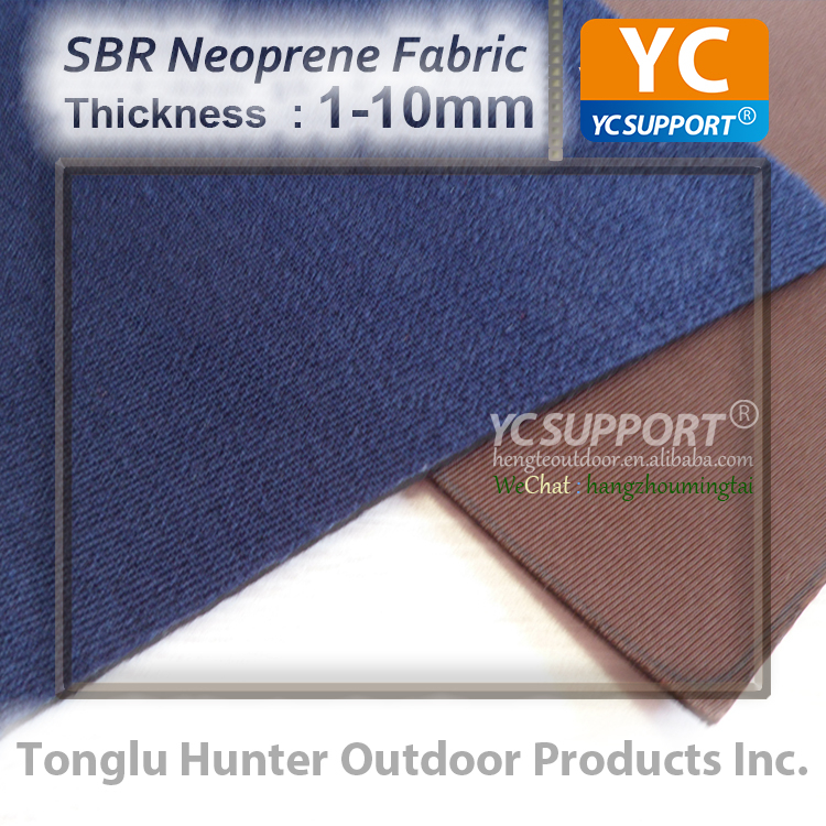 Custom thickness color fabric SBR SCR CR rubber sheet neoprene raw material