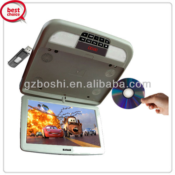 BOSHI 12 inch super thin flip down DVD use for recreation