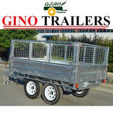 Australian style 4-wheel tractor trailer with hydraulic tipper