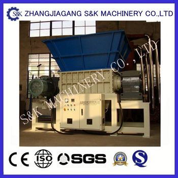 Professional waste plastic double shaft shredder