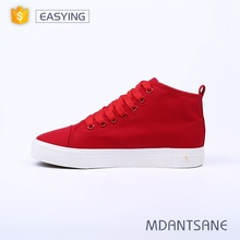 Cheap price wholesale comfortable durable women casual shoes, lace up canvas shoes