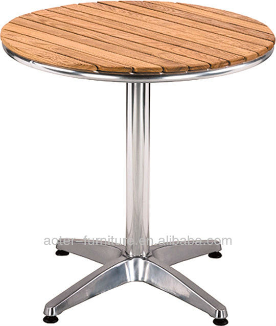 New style outdoor solid wooden round dining furniture for Latest style dining table