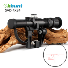 Ohhunt Tactical Optical Red Illuminated 4x24 PSO-1 Type Hunting Rifle Scope for Dragonov SVD Sniper Series AK Series