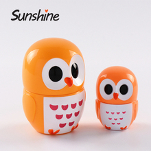 Mini animal shape plastic lip balm container for hot sale