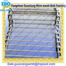 high quality chain link metal tempering furnace belt