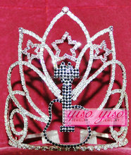fancy designer stars black guitar jewelry tiara