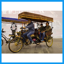 Factory Manufacture 3 Passenger Carriage Economic Use Electric Tricycle Rickshaw For Sale