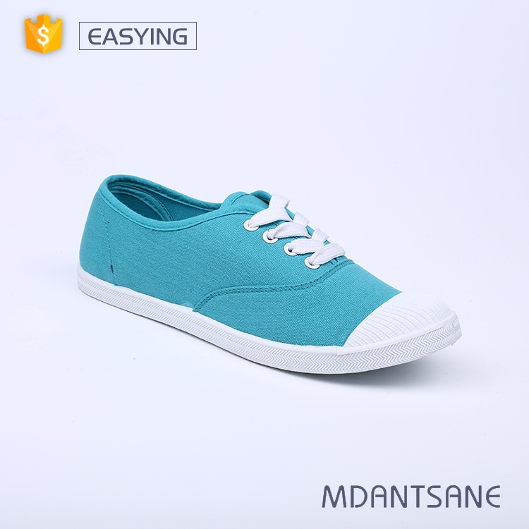 China manufacturer cheap women casual canvas flat shoes