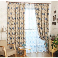 modern decorative new design living room jacquard blackout curtain