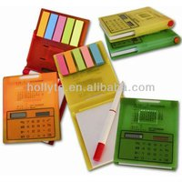 Calculator With Sticky Notes and pen/function tables calculator