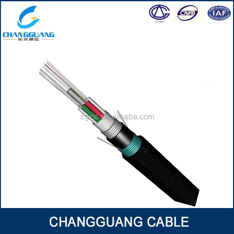 High quality GYTA53 armored direct buried loose tube 4 core fiber opitc cable