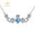 2018 Custom Tanzanite Mother's Day Love Silver Pendant Necklace