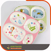 Kids Cute Design Melamine Plastic School Lunch Baby Food Tray