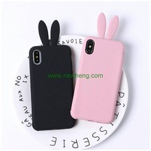 Soft Rabbit Ear Silicone Mobile Phone Case Shell Cover for iPhone X