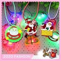 2015 cheap flashing christmas lights necklace for children