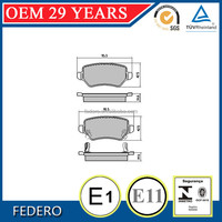 5019802AA 2907 brake pads shoes