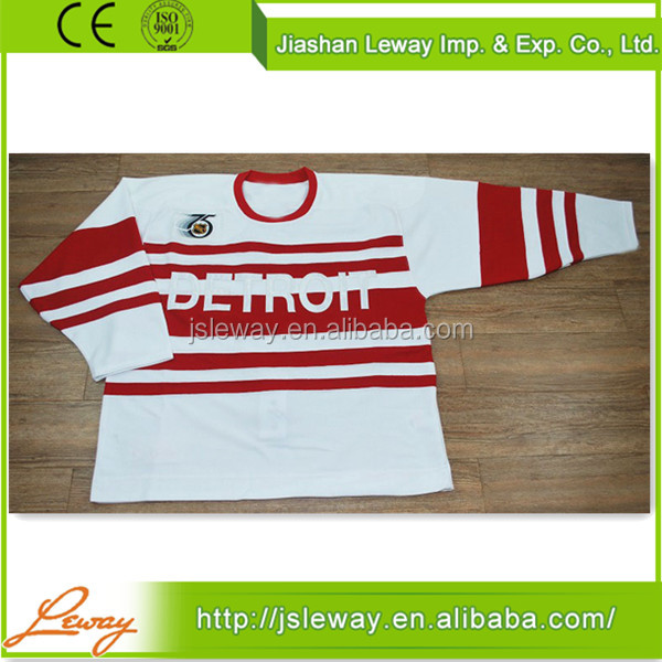 China supplier cheap custom nhl red wings ice hockey jerseys free shipping